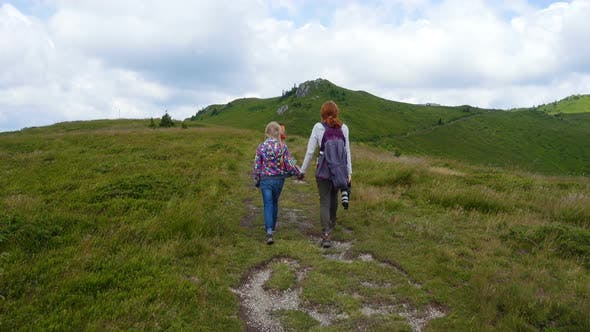 Thumbnail for Family Hiking At The Mountains 8