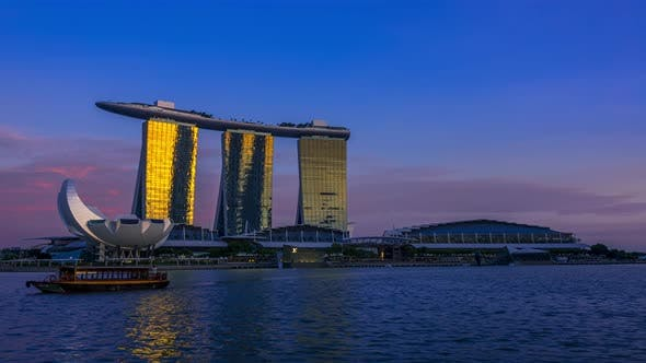 Thumbnail for Evening Overlooking Marina Bay Sands Hotel
