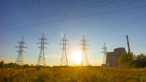 Electric Line Sunset
