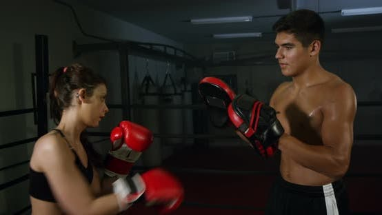 Thumbnail for Couple Exercising Punching 13b