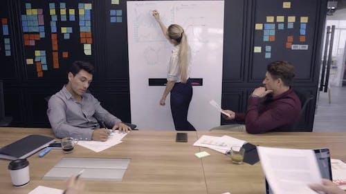 Business Woman Leading Presentation