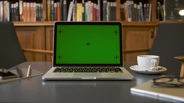 Thumbnail for Laptop Computer Green Screen For Mock Up