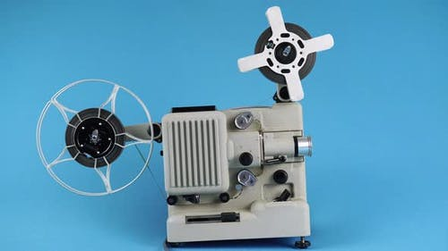 Viewing Old Movies On A Vintage Movie Projector