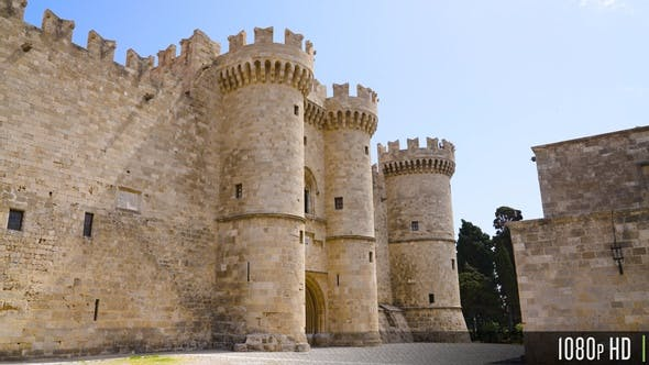 Parallax Movement for Palace of the Grand Master of the Knights of Rhodes Castle, Greece