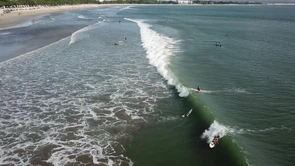 Surfer Caught a Wave