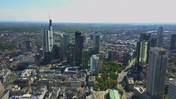 Cover Image for AERIAL: View on Frankfurt Am Main Skyline Sunshine