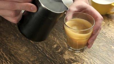 Barista Making Latte.