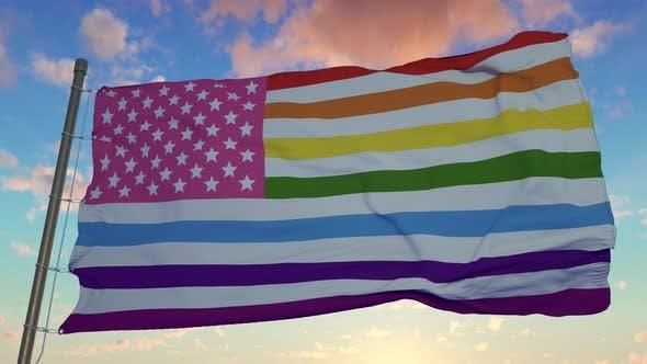 Gay Flag Symbol of Gay Pride in America