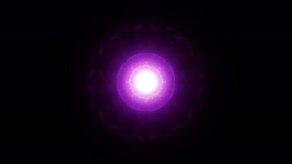 Purple Fractal Plasma Core Effect