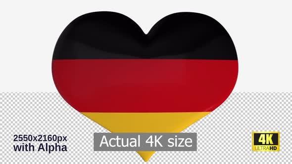 Thumbnail for Germany Flag Heart Spinning