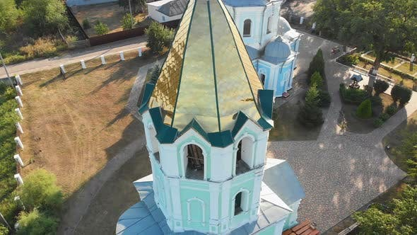 Thumbnail for Aerial View of the Ukrainian Christian Church Located in the Village
