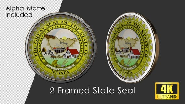Framed Seal Of Nevada State By Rouge Trader On Envato Elements