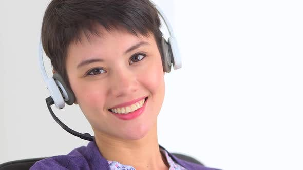 Thumbnail for Chinese woman telemarketer