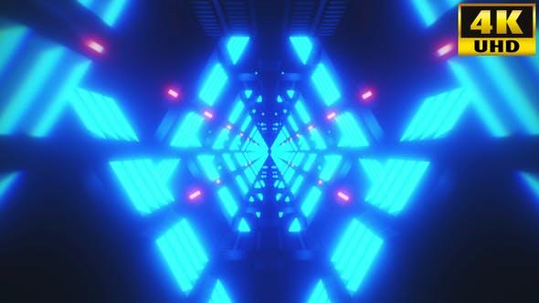 Thumbnail for Tunnel Retrowave Vj Loops Pack V1