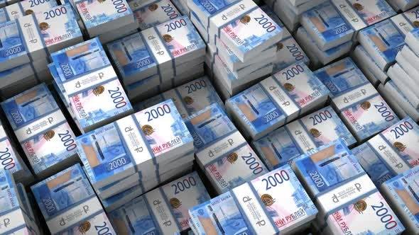 Money Bills Russian Ruble