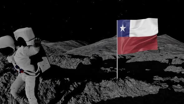 Thumbnail for Astronaut Planting Chile Flag on the Moon