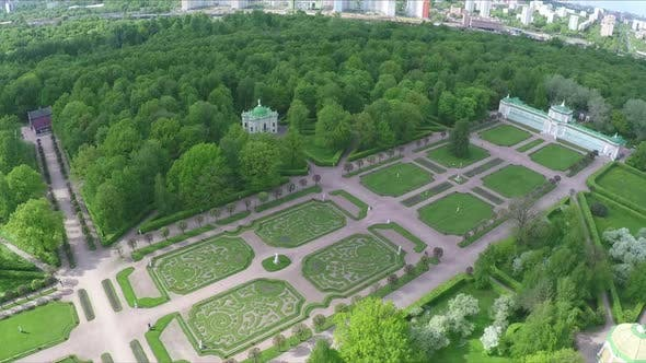 Thumbnail for Palace and Square with Green Lawns in Tsaritsyno, Aerial View