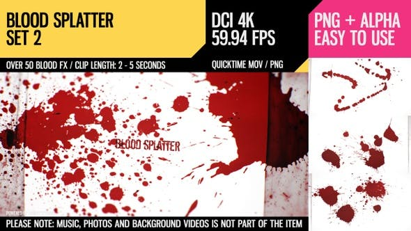 Thumbnail for Blood Splatter (4K Set 2)