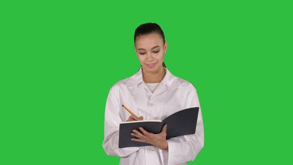 Thumbnail for Expressive young female doctor with creative idea holding