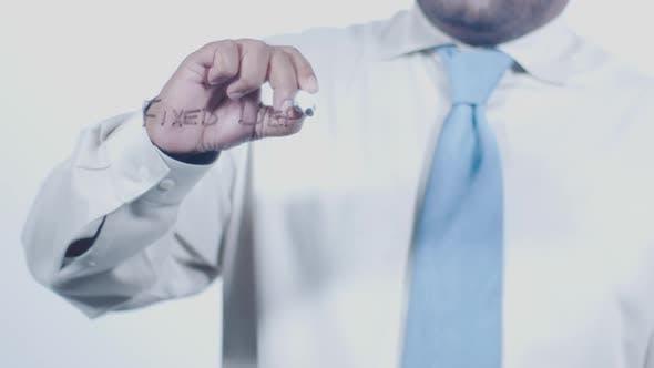 Asian Indian Businessman Writes Fix Deposit