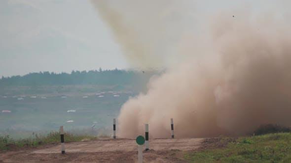Automobile Multiple Launch Rocket System Grad Fires