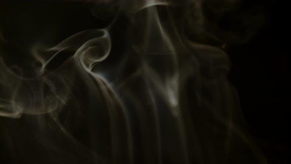 Thumbnail for Smoke on black background, Ultra Slow Motion