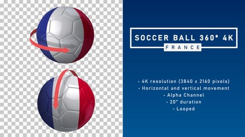 Soccer Ball 360º 4K - France
