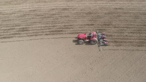 Thumbnail for Tractor Is Cultivating the Land