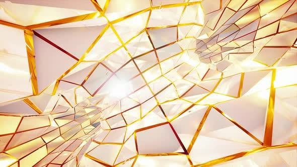 Thumbnail for White Pearl And Gold Rotating Tunnel Vj Background 4k