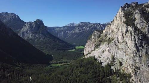 Aerial of Alpine Valley, Austria