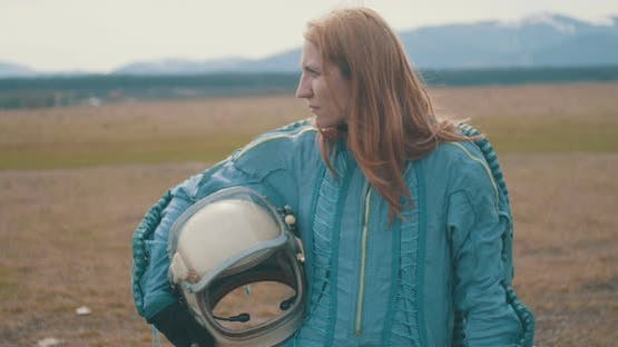 Redhead Astronaut Woman