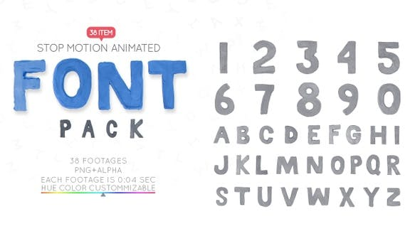 Thumbnail for Clay Letters Font Pack