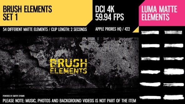 Thumbnail for Brush Elements (4K Set 1)