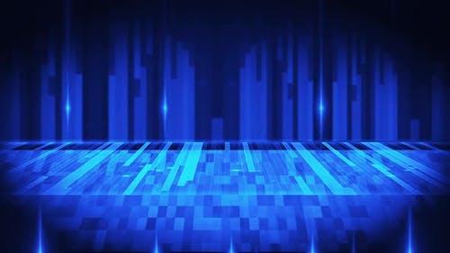 Blau leuchtende Rechtecke Loop