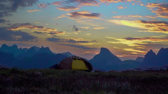 Cover Image for Tourist Tent on Top of the Mountain