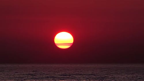 Only Clear Sunrise on The Sea