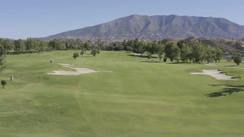 Aéreo/Campo de Golf/Montana La concha/Mabella/Andalusien/4k