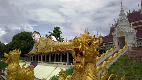 Thumbnail for Aerial View of Buddhist Temple Wat Phra That Suthon Monkhon Khiri