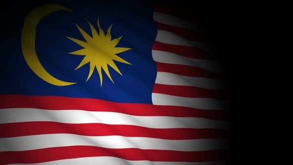 Cover Image for Malaysia Flag Blowing in Wind