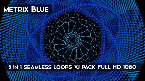 Thumbnail for Metrix Blue VJ Loops