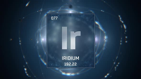 Thumbnail for Iridium as Element 77 of the Periodic Table On Blue Background