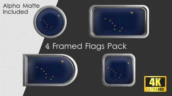 Thumbnail for Alaska State Flag Framed