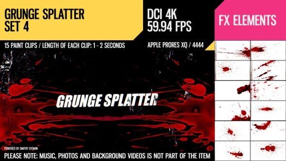 Thumbnail for Grunge Splatter (4K Set 4)