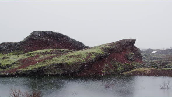 Thumbnail for Snowing on the Lake, Iceland