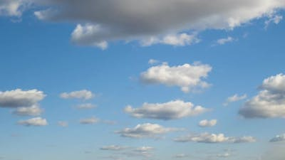 Time Lapse Footage of Fast Moving White Clouds on Blue Clear Sky