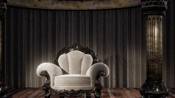 Thumbnail for Luxurious Theater Curtain Stage with Chair