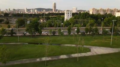 Aerial View City Park Garden
