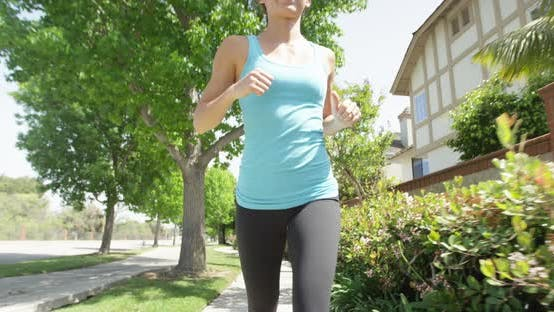 Thumbnail for Mixed race woman running