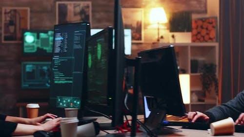Team of Cyber Criminals Using Modern Software