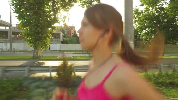 Thumbnail for Runner Woman Running In City Exercising Outdoors 2